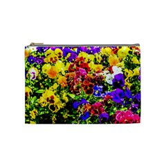 Viola Tricolor Flowers Cosmetic Bag (medium) by FunnyCow