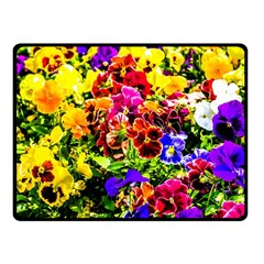 Viola Tricolor Flowers Fleece Blanket (small) by FunnyCow