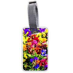 Viola Tricolor Flowers Luggage Tags (two Sides) by FunnyCow