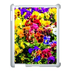 Viola Tricolor Flowers Apple Ipad 3/4 Case (white) by FunnyCow