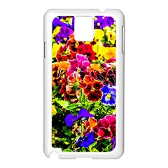 Viola Tricolor Flowers Samsung Galaxy Note 3 N9005 Case (white) by FunnyCow
