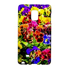 Viola Tricolor Flowers Samsung Galaxy Note Edge Hardshell Case by FunnyCow