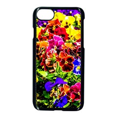 Viola Tricolor Flowers Apple Iphone 7 Seamless Case (black) by FunnyCow