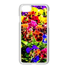 Viola Tricolor Flowers Apple Iphone 7 Seamless Case (white) by FunnyCow