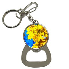 Yellow Maple Leaves Bottle Opener Key Chains by FunnyCow