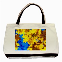 Yellow Maple Leaves Basic Tote Bag by FunnyCow