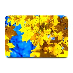 Yellow Maple Leaves Plate Mats by FunnyCow