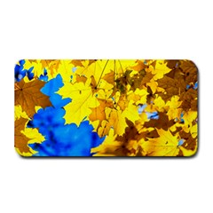 Yellow Maple Leaves Medium Bar Mats by FunnyCow