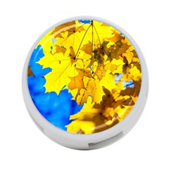 Yellow Maple Leaves 4 Port Usb Hub (two Sides) by FunnyCow