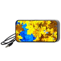 Yellow Maple Leaves Portable Speaker by FunnyCow
