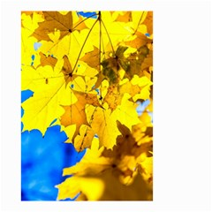 Yellow Maple Leaves Small Garden Flag (two Sides) by FunnyCow