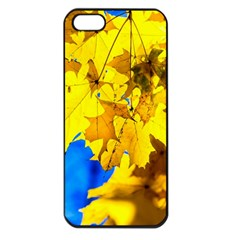 Yellow Maple Leaves Apple Iphone 5 Seamless Case (black) by FunnyCow