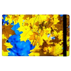 Yellow Maple Leaves Apple Ipad 2 Flip Case by FunnyCow