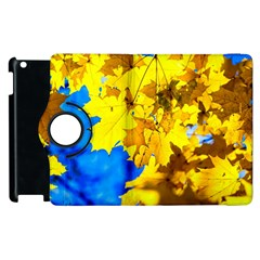 Yellow Maple Leaves Apple Ipad 3/4 Flip 360 Case by FunnyCow
