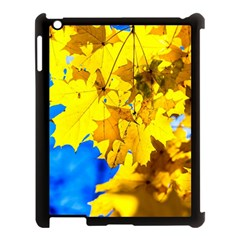 Yellow Maple Leaves Apple Ipad 3/4 Case (black) by FunnyCow