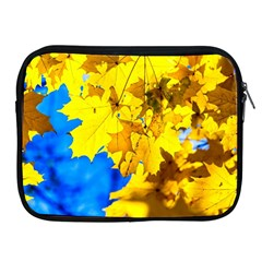 Yellow Maple Leaves Apple Ipad 2/3/4 Zipper Cases by FunnyCow