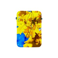 Yellow Maple Leaves Apple Ipad Mini Protective Soft Cases by FunnyCow