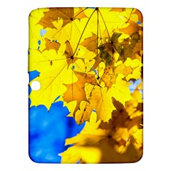 Yellow Maple Leaves Samsung Galaxy Tab 3 (10 1 ) P5200 Hardshell Case  by FunnyCow