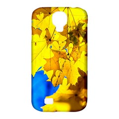 Yellow Maple Leaves Samsung Galaxy S4 Classic Hardshell Case (pc+silicone) by FunnyCow