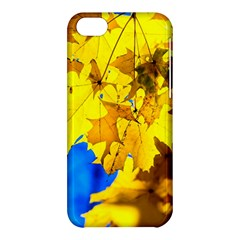 Yellow Maple Leaves Apple Iphone 5c Hardshell Case by FunnyCow