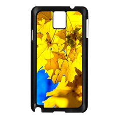 Yellow Maple Leaves Samsung Galaxy Note 3 N9005 Case (black) by FunnyCow
