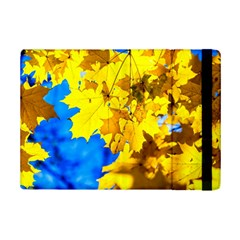 Yellow Maple Leaves Ipad Mini 2 Flip Cases by FunnyCow