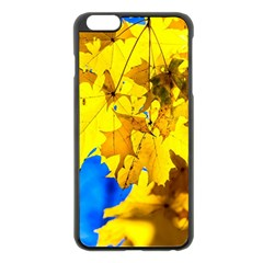 Yellow Maple Leaves Apple Iphone 6 Plus/6s Plus Black Enamel Case by FunnyCow
