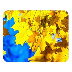 Yellow Maple Leaves Double Sided Flano Blanket (large)  by FunnyCow
