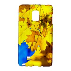 Yellow Maple Leaves Samsung Galaxy Note Edge Hardshell Case by FunnyCow