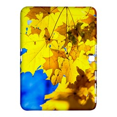 Yellow Maple Leaves Samsung Galaxy Tab 4 (10 1 ) Hardshell Case  by FunnyCow