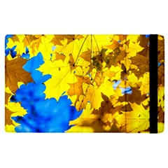 Yellow Maple Leaves Apple Ipad Pro 9 7   Flip Case by FunnyCow
