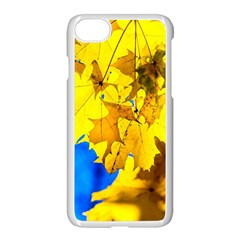 Yellow Maple Leaves Apple Iphone 7 Seamless Case (white) by FunnyCow
