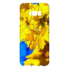 Yellow Maple Leaves Samsung Galaxy S8 Plus Hardshell Case  by FunnyCow