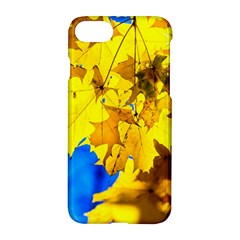 Yellow Maple Leaves Apple Iphone 8 Hardshell Case by FunnyCow