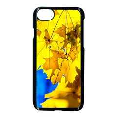 Yellow Maple Leaves Apple Iphone 8 Seamless Case (black) by FunnyCow