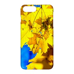 Yellow Maple Leaves Apple Iphone 8 Plus Hardshell Case by FunnyCow