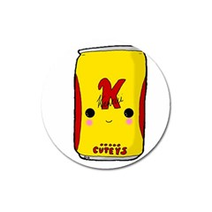Kawaii Cute Tennants Lager Can Magnet 3  (round) by CuteKawaii1982