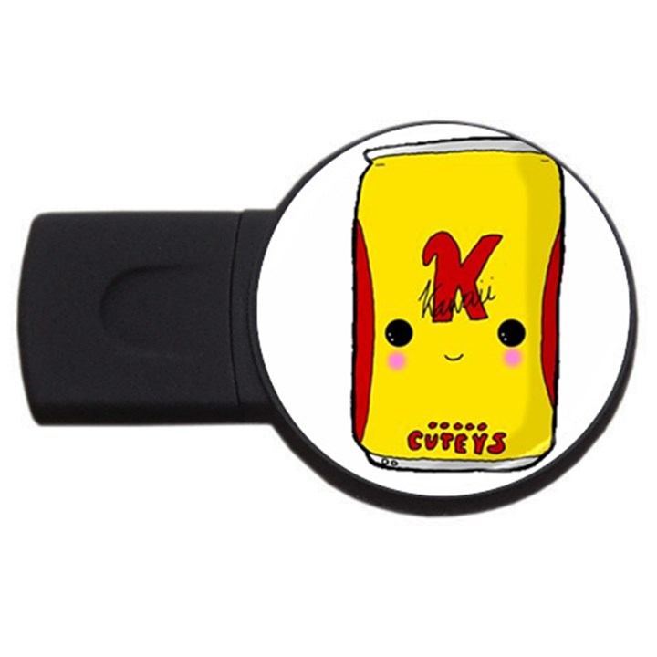 Kawaii cute Tennants Lager Can USB Flash Drive Round (2 GB)