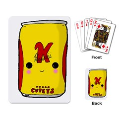 Kawaii Cute Tennants Lager Can Playing Card by CuteKawaii1982