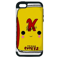 Kawaii Cute Tennants Lager Can Apple Iphone 5 Hardshell Case (pc+silicone)