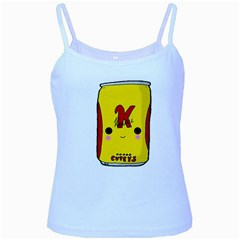Kawaii Cute Tennants Lager Can Baby Blue Spaghetti Tank