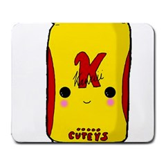 Kawaii Cute Tennants Lager Can Large Mousepads by CuteKawaii1982