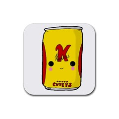 Kawaii Cute Tennants Lager Can Rubber Square Coaster (4 Pack)  by CuteKawaii1982