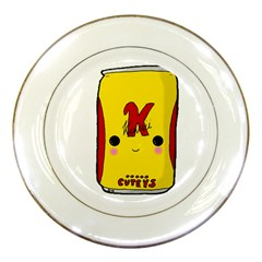 Kawaii Cute Tennants Lager Can Porcelain Plates by CuteKawaii1982