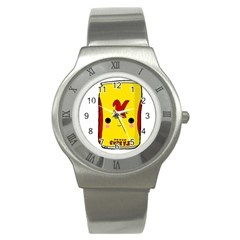 Kawaii Cute Tennants Lager Can Stainless Steel Watch
