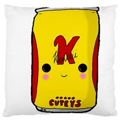 Kawaii Cute Tennants Lager Can Large Cushion Case (two Sides) by CuteKawaii1982
