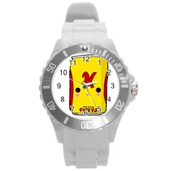 Kawaii Cute Tennants Lager Can Round Plastic Sport Watch (l) by CuteKawaii1982
