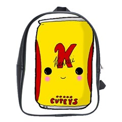 Kawaii Cute Tennants Lager Can School Bag (xl) by CuteKawaii1982