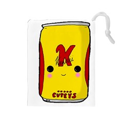 Kawaii Cute Tennants Lager Can Drawstring Pouches (large)