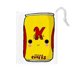 Kawaii cute Tennants Lager Can Drawstring Pouches (Large)  Front